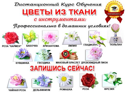 Цветы из ткани своими руками. Получи Пуансеттию Беслатно!