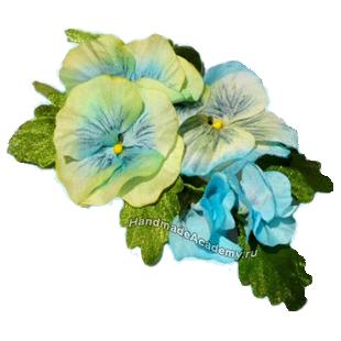 Цветы из ткани своими руками: Как сделать Анютины глазки мастер-класс