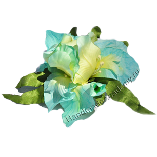 Цветы из ткани своими руками Мастер-класс: Как изготовить Ирис из ткани своими руками, мк, выкройки