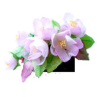 Цветы из ткани своими руками Мастер-класс: Как изготовить Цветок веточку вишни, яблони, сакуры из ткани своими руками