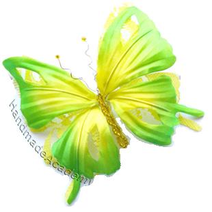 Цветы из ткани Видео мастер-классы: Как изготовить Бабочку из ткани своими руками, мк, выкройка