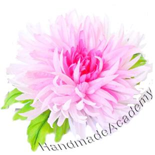 Цветы из ткани Видео мастер-класс: Как изготовить цветок Хризантему из ткани своими руками, мк, выкройки