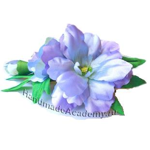 Цветы из ткани Мастер-классы: Как изготовить цветок Дельфиниум из ткани своими руками