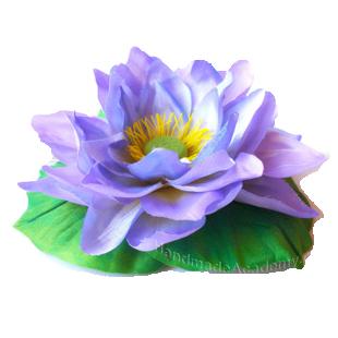 Цветы из ткани Видео мастер-класс: Как изготовить Кувшинку из ткани своими руками, мк выкройки
